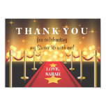 Red Carpet Hollywood Sweet 16 Thank You Note 11 Cm X 16 Cm Invitation Card