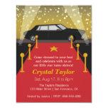 Red Carpet, Hollywood Theme Party, Girl Birthday 11 Cm X 14 Cm Invitation Card