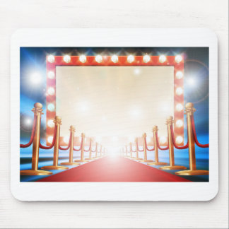 Red Carpet Light Bulb Sign Mouse Pad