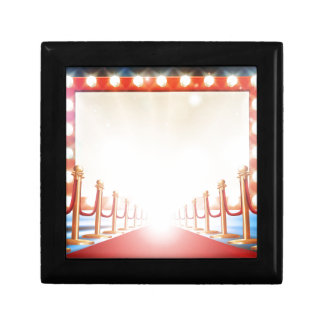 Red Carpet Light Bulb Sign Small Square Gift Box