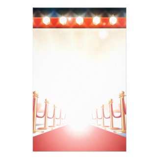 Red Carpet Light Bulb Sign Stationery Paper