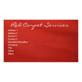 Red Carpet Pack Of Standard Business Cards