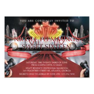 Red Carpet Sweet Sixteen Invitation