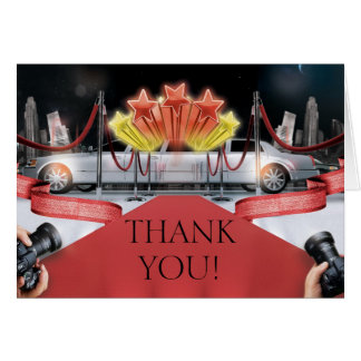 Red Carpet Thank You Note Card