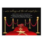 Red Carpet Themed Party with Faux Gold Foil Card