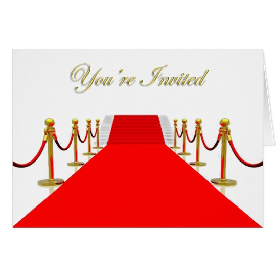 Red Carpet You're Invited Card