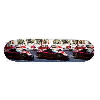 Red cars custom skateboard