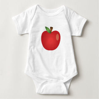 Red Cartoon Apple Baby Bodysuit