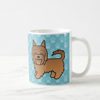 Red Cartoon Australian Terrier Coffee Mug