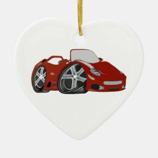 Red Cartoon Car Art Christmas Ornament