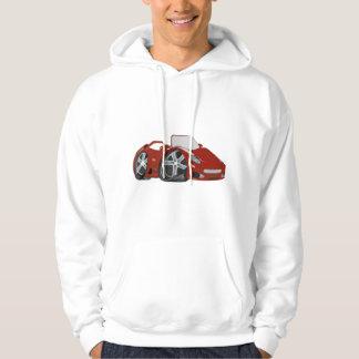 Red Cartoon Car Art Sweatshirts