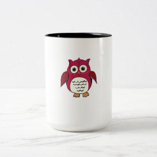 Red Cartoon Owl Mugs