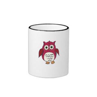Red Cartoon Owl Mug