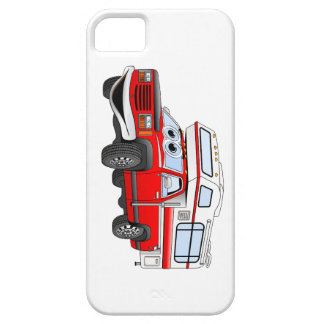 Red Cartoon Pick Up Camper Case For The iPhone 5