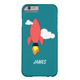 Red cartoon rocket barely there iPhone 6 case