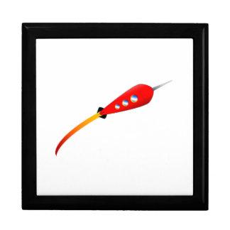 Red Cartoon Rocket Gift Box