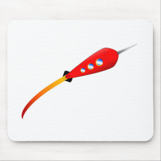 Red Cartoon Rocket Mouse Mat