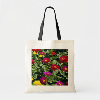 Red Cascade of flowers flowers Canvas Bag