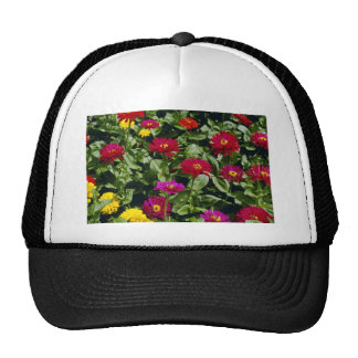 Red Cascade of flowers flowers Mesh Hats