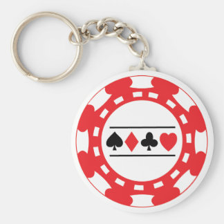 Red Casino Chip Keychain