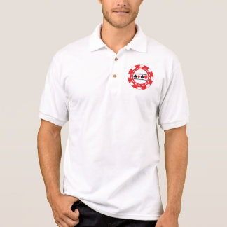 Red Casino Chip Polo Shirt