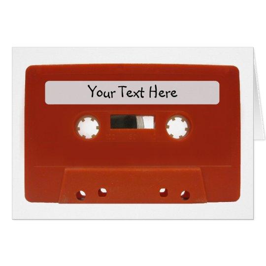 Red Cassette Tape Customisable Card