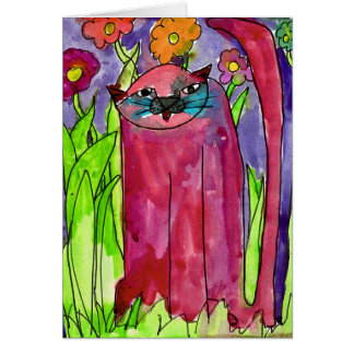 Red Cat • Bianca Saad, Age 8  - card