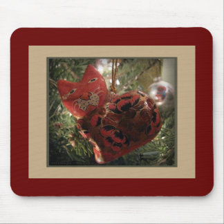 Red Cat Ornament Mousepad