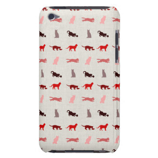 Red Cat pattern Barely There iPod Cover