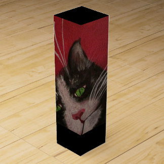 red cat wine box