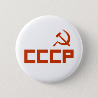 Red CCCP Hammer and Sickle 6 Cm Round Badge