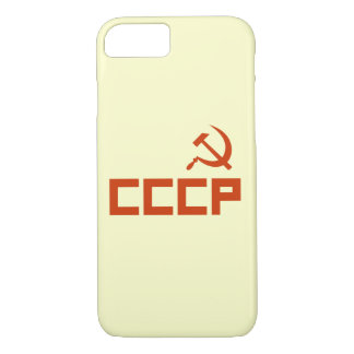 Red CCCP Hammer and Sickle iPhone 7 Case