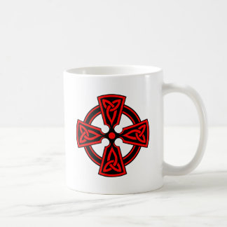 red celtic cross saxon viking wicca pagan coffee mug