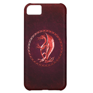 Red Celtic Dragon iPhone 5C Case