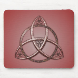 Red Celtic Trinity Knot Mouse Mat