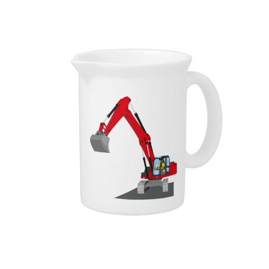 red chain excavator drink pitcher
