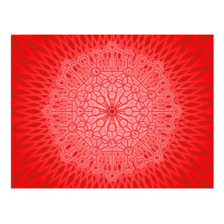 Red Chakra Mandala Sacred Geometry Postcard