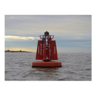 Red Channel Buoy Postcard