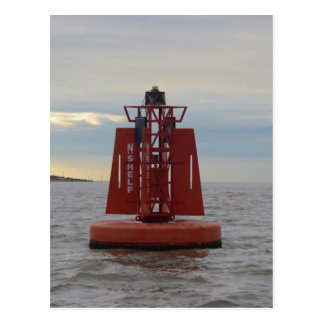 Red Channel Buoy Post Card