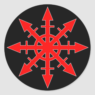 Red Chaos Star Sticker