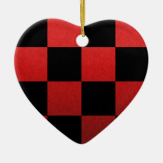 Red Checker Christmas Ornament