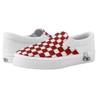 Red Checkerboard Sneakers