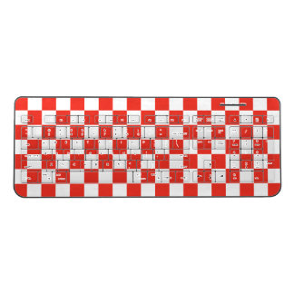 Red Checkerboard Wireless Keyboard