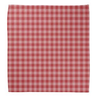 Red checkered gingham bandana