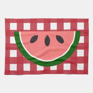 Red Checkered Watermelon Kitchen Towel