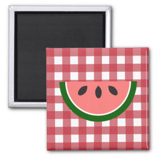 Red Checkered Watermelon Magnet