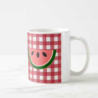 Red Checkered Watermelon Mug