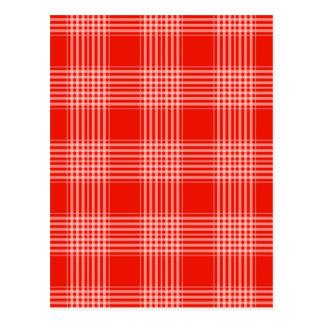 Red Checks Design Postcard