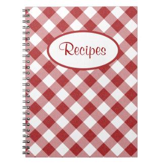Red Checks Recipe Notebook