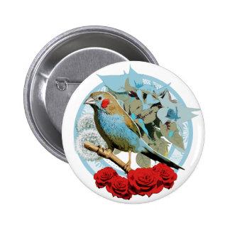 Red Cheeked Cordon Bleu Finch 6 Cm Round Badge